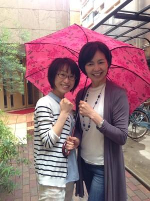 ちりちゃんと赤い傘